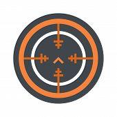 Svd Gun Aim Icon. Flat Illustration Of Svd Gun Aim Vector Icon For Web Isolated On White poster