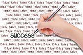 Human Hand Writing Word's Success