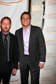 LOS ANGELES - MAY 12:  Bob Guiney, Scott Grimes arriving at the 11th Annual Lupus LA Orange Ball at Beverly Wilshire Hotel on May 12, 2011 in Beverly Hills, CA