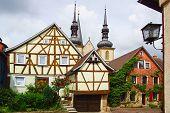 Altes Fachwerk-Haus in Weikersheim.