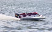 Jay Price Of Qatar Team Drives During Formula 1 H2O World Championship Powerboat Grandprix