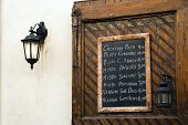 Italian Restaurant Menu Board