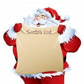 Santa holding a