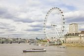 The London Eye And The Thames River