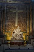 The Pieta - Sculpted By Michelangelo In St. Peter'S Basilica