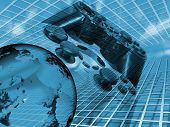 image of video game  - conceptual image depicting online gaming - JPG