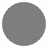Black And White Checkered Optical Illusion