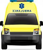 Ambulance car yellow