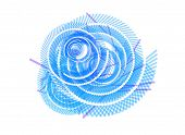 Abstract Blue White Swirl Background