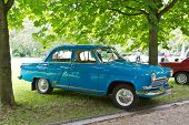 BADEN-BADEN, GERMANY - JULY 13:  A GAZ M21 VOLGA (1960)  at The International Exhibition of old cars