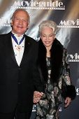 LOS ANGELES - FEB 18:  Buzz & Lois Aldrin arrives at the 19th Annual Movieguide Awards Gala at Unive
