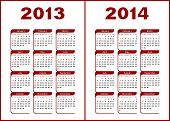 stock photo of calendar 2014  - Calendar for 2013 - JPG