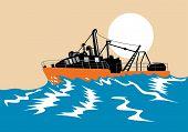 Boat Battling The Waves