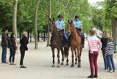 Gendarmes in the Champs de Mars