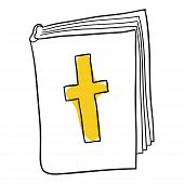 image of stereotype  - Vector bible is isolated on a white background - JPG