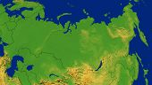 Russia Map With Terrain