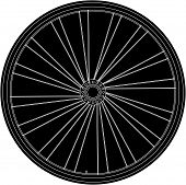 Conceptual Abstract Bike Wheel - Raster