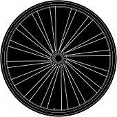 Conceptual Abstract Bike Wheel - Raster