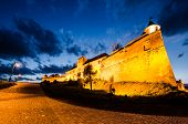 Citadel Of Brasov In The Night, Landmark Of Brasov