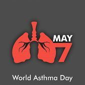 image of asthma  - World asthma day background with lungs - JPG