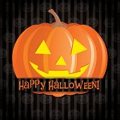 foto of freaky  - Jack o lantern Happy Halloween card in vector format - JPG