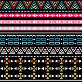 image of ombre  - Vector seamless aztec ornament - JPG