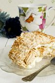 Coconut Meringue Swiss Roll