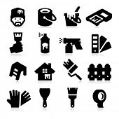 stock photo of paint spray  - Painting Icons - JPG