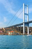 Bosphorus Bridge And Hatice Sultan Palace In Istanbul, Turkey