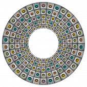 Radial Sound-system Woofer Pattern