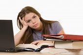 Estudiante universitario frustrado