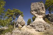 Limestone Rocks In Cuenca, Spain
