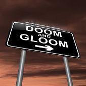 Doom e Gloom conceito.