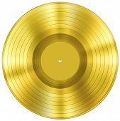 Goldene Schallplatte-Musikpreis, isolated on white