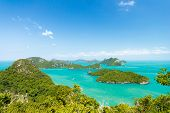 picture of bird paradise  - Landscape bird eye view of angthong national marine park ko samui thailand - JPG