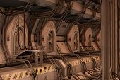 Sci-fi Space Dock Station