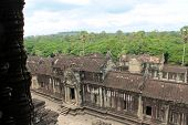 View Of The Jungle From Atop Angkor Wat, Cambodia