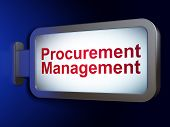 Business concept: Procurement Management on billboard background