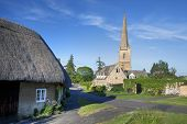 picture of church-of-england  - The tall church at Tredington - JPG