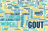 foto of medical condition  - Gout Concept as a Medical Inflammatory Condition - JPG