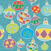 seamless christmas globes