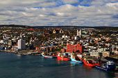 St. John's Newfoundland Harbour And Town.