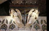 Inside of the Notre-Dame de Rocamadour chapel in Rocamadour, France
