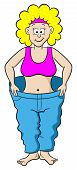Woman In A Large Pants After Diet