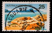 AUSTRALIA - CIRCA 1976: A Stamp sheet printed in AUSTRALIA shows the Broken Bay, New South Wales, Au
