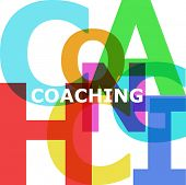 Coaching - vector abstract color text