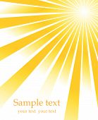 stock photo of sun rays  - Abstract yellow sun rays vector illustration background - JPG