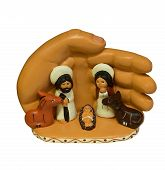 picture of holy family  - The Holy family Jesus Joseph & Mary all together. Ceramic product from PERU