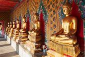 Buddha statues at Wat Arun in Bangkok, Thailand.