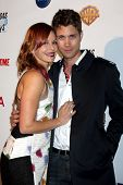 LOS ANGELES - DEC 4:  Amy Paffrath, Drew Seeley at the Junior Hollywood Radio & Television 2013 Soci